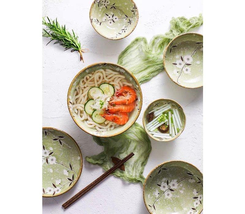 Fine Asianliving Japans Servies Soshun Glossy Cosmos Green - Salade Schaal 24.5x8cm