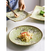 Fine Asianliving Japanese Tableware Soshun Glossy Cosmos Green - Salad Bowl 24.5x8cm