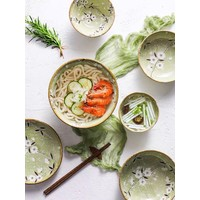 Fine Asianliving Japanese Tableware Soshun Glossy Cosmos Green - Plate 13x13x2cm