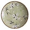 Fine Asianliving Fine Asianliving Japanese Tableware Soshun Glossy Cosmos Green - Dinner Plate 22.5x3cm