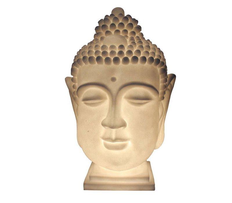 Sfeerlamp Nachtlamp Boeddha Hoofd Zandsteen Handgemaakt 27.3x28.3x41.3cm