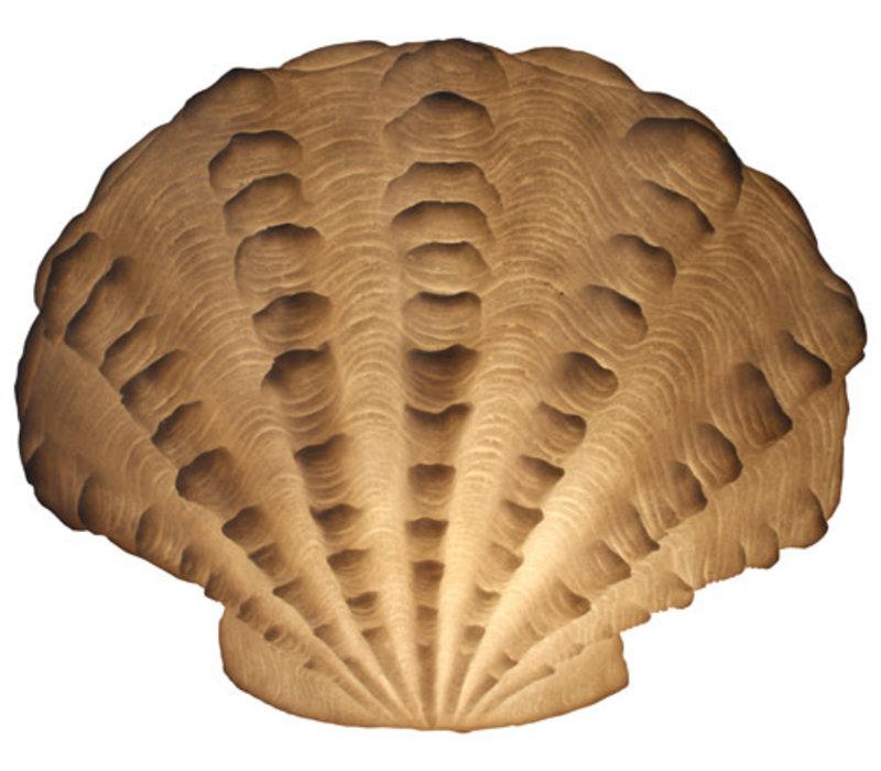 Lampada da Tavolo in Arenaria Capasanta Ondulata 43.6x23.5x34cm