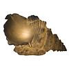 Fine Asianliving Lampada da Tavolo in Arenaria Conchiglia 39.5x21.5x23.8cm