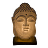 Fine Asianliving Sandstone Table Lamp Buddha on Base 20.3x20.3x29.3cm
