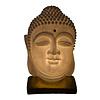 Fine Asianliving Tischlampe aus Sandstein Buddha auf Basis 20.3x20.3x29.3cm