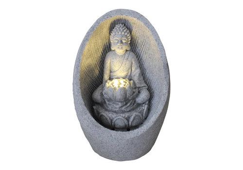 Fine Asianliving Zimmerbrunnen Sandstein Buddha 21.5x31.2cm