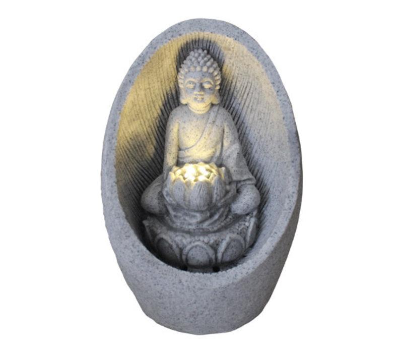 Zandsteen Buddha Fontein 21.5x31.2cm