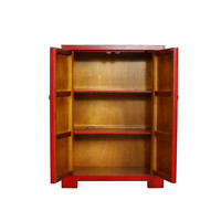 Fine Asianliving Chinese Cabinet  White Birds & Cherry Blossoms Red