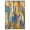 Fine Asianliving Fine Asianliving Oil Painting with Gold Leaf Contemporary Art Abstract Handmade