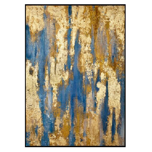 Oil Painting with Gold Leaf Contemporary Art Abstract Handmade