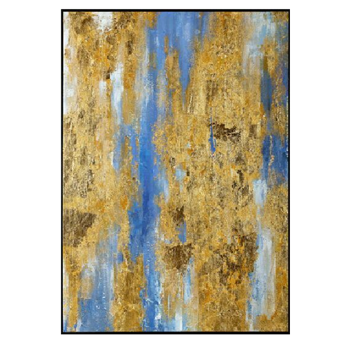 Fine Asianliving Oil Painting with Gold Leaf Contemporary Art Abstract Handmade