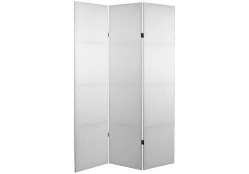 Fine Asianliving Biombo Separador de Lienzo A120xA180cm 3 Paneles Blanco Bricolaje DIY