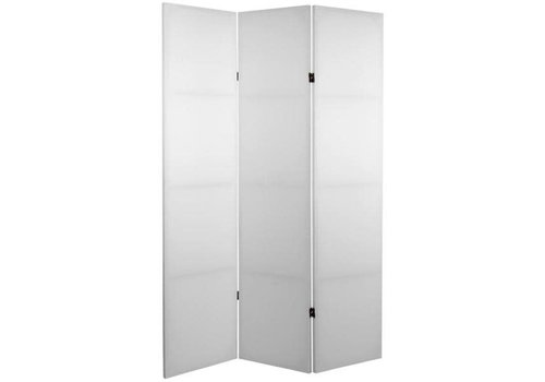 Fine Asianliving Kamerscherm Scheidingswand 3 panelen DIY Blanco Wit L120xH180cm