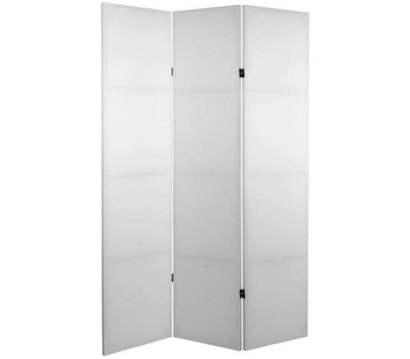 Biombo Separador de Lienzo 3 Paneles Blanco Bricolaje DIY Anch.120 x Alt.180 cm