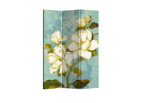 Fine Asianliving Fine Asianliving Paravent Cloison Amovible Séparateur de Pièce 3 Panneaux Vintage Bohemian Flowers L120xH180cm