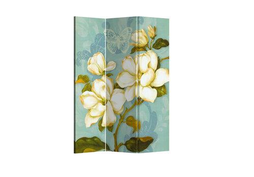 Fine Asianliving Paravent Raumteiler Trennwand 3-teilig Böhmische Blumen Vintage B120xH180cm