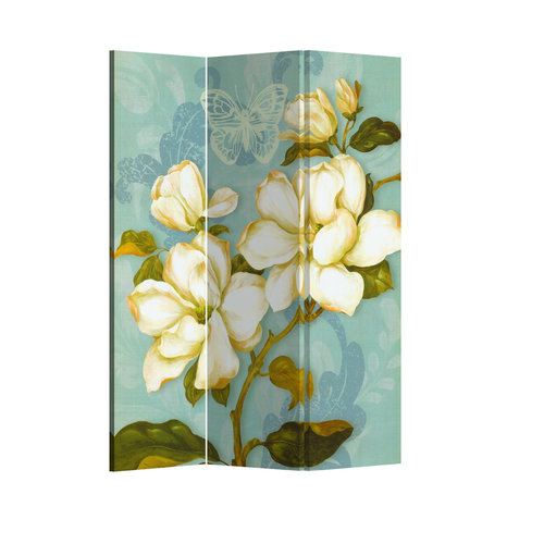 Fine Asianliving Room Divider Privacy Screen 3 Panel Vintage Bohemian Flowers L120xH180cm