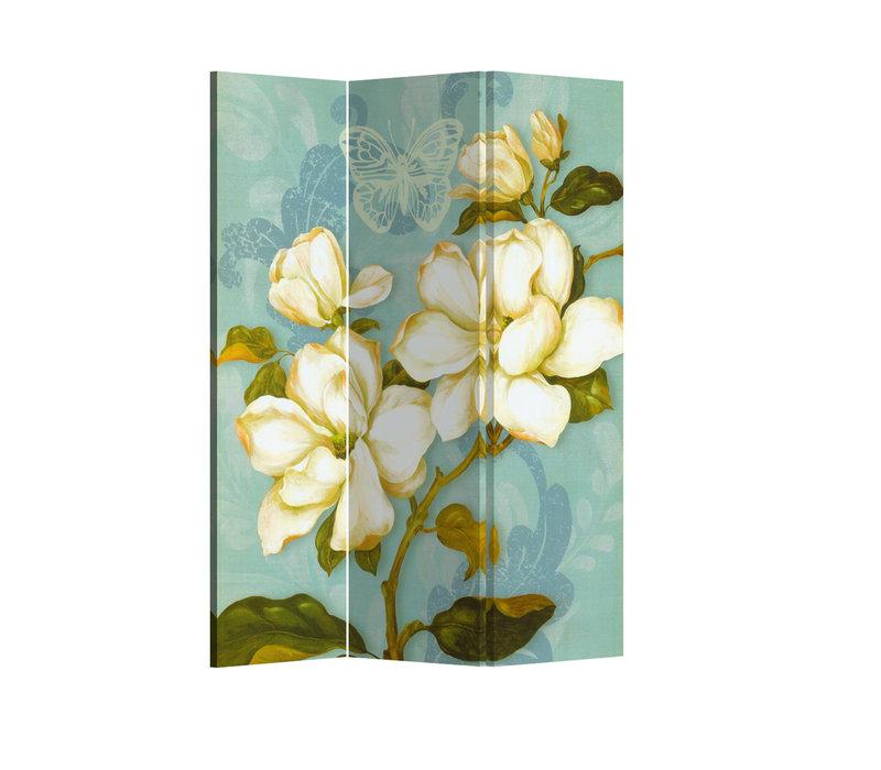 Fine Asianliving Paravento Divisori Tela 3 Pannelli Pieghevole Separatore Vintage Bohemian Flowers L120xH180cm