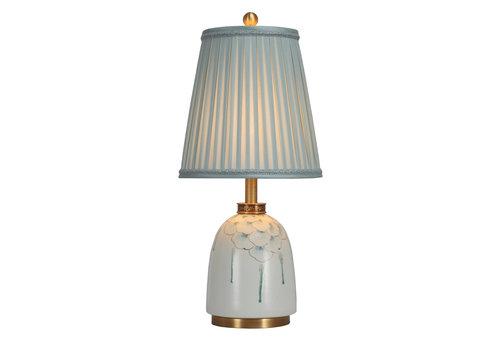 Fine Asianliving Chinese Tafellamp Porselein met Kap