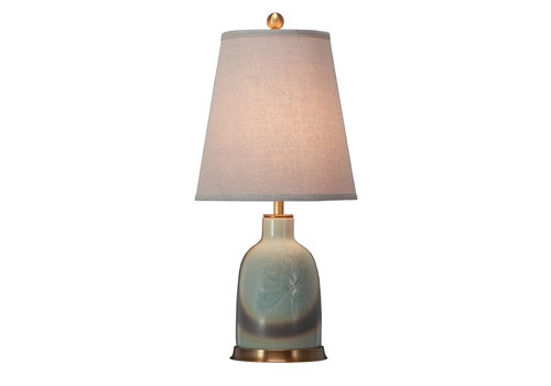 Fine Asianliving Chinese Table Lamp Porcelain with Lampshade Handpainted
