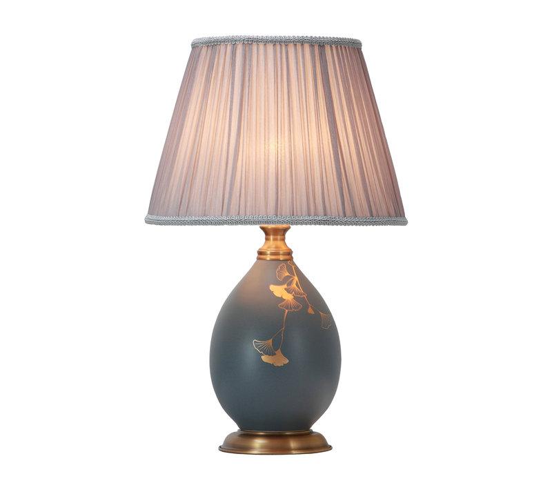 Chinese Tafellamp Porselein met Kap