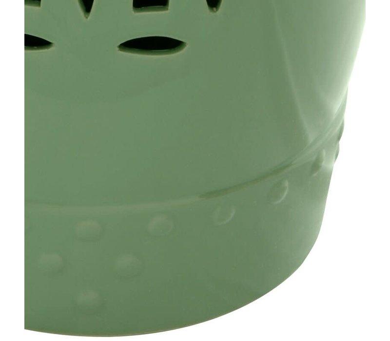 Fine Asianliving Keramische Kruk Porselein Stoel B33xH45cm Apple Groen