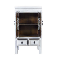 Chinese Cabinet Handcrafted Vintage White W57xD38xH105cm
