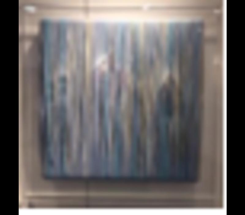 Oosters Schilderij Olieverf Contemporary Bladgoud 700x700mm