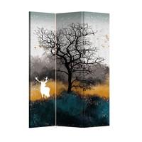 Fine Asianliving Kamerscherm Scheidingswand 3 panelen Rendier L120xH180cm