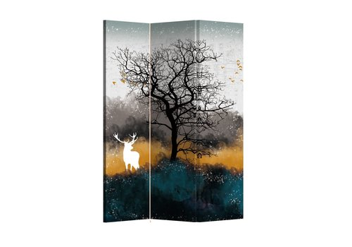 Fine Asianliving Fine Asianliving Room Divider Folding Privacy Screen 3 Panel Deer L120xH180cm