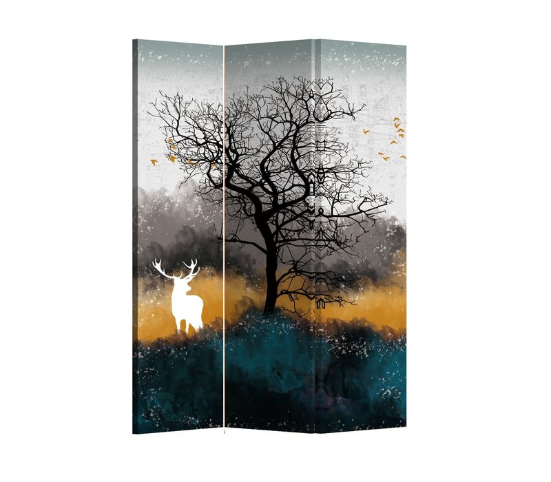 Fine Asianliving Room Divider Folding Privacy Screen 3 Panel Deer L120xH180cm