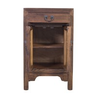 Chinese Bedside Table Brown L42xW35xH70cm