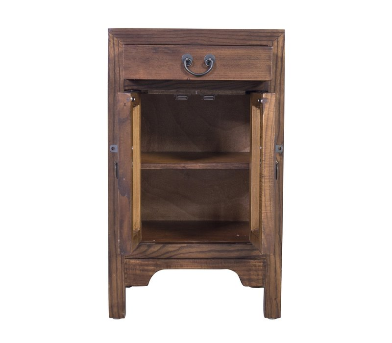 Chinese Bedside Table Brown W42xD35xH70cm