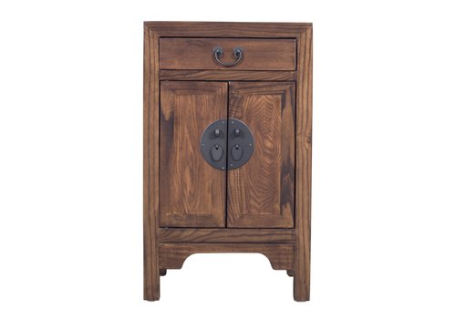 Fine Asianliving Fine Asianliving Chinese Bedside Table Brown L42xW35xH70cm