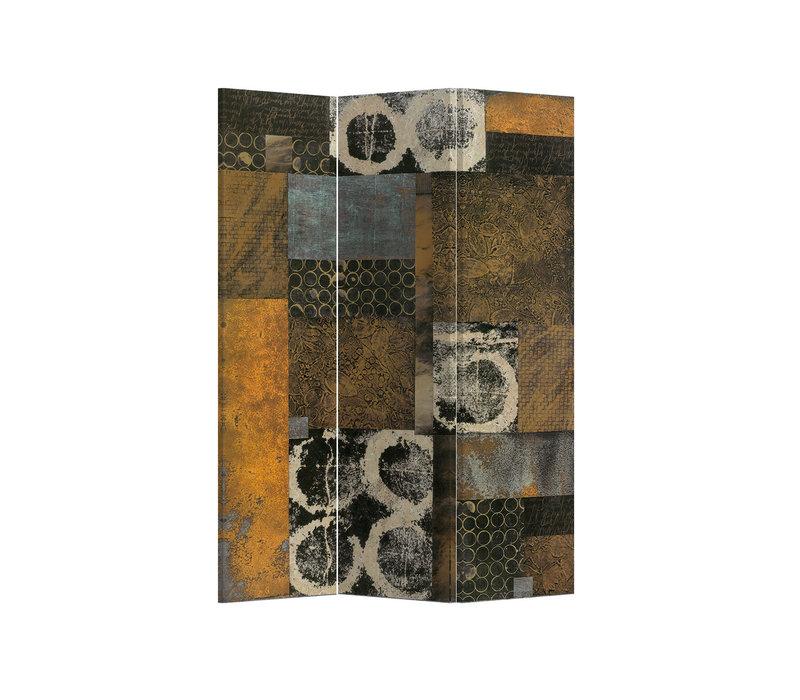 Fine Asianliving Paravento Divisori Tela 3 Pannelli Pieghevole Separatore Contemporary Art L120xH180cm