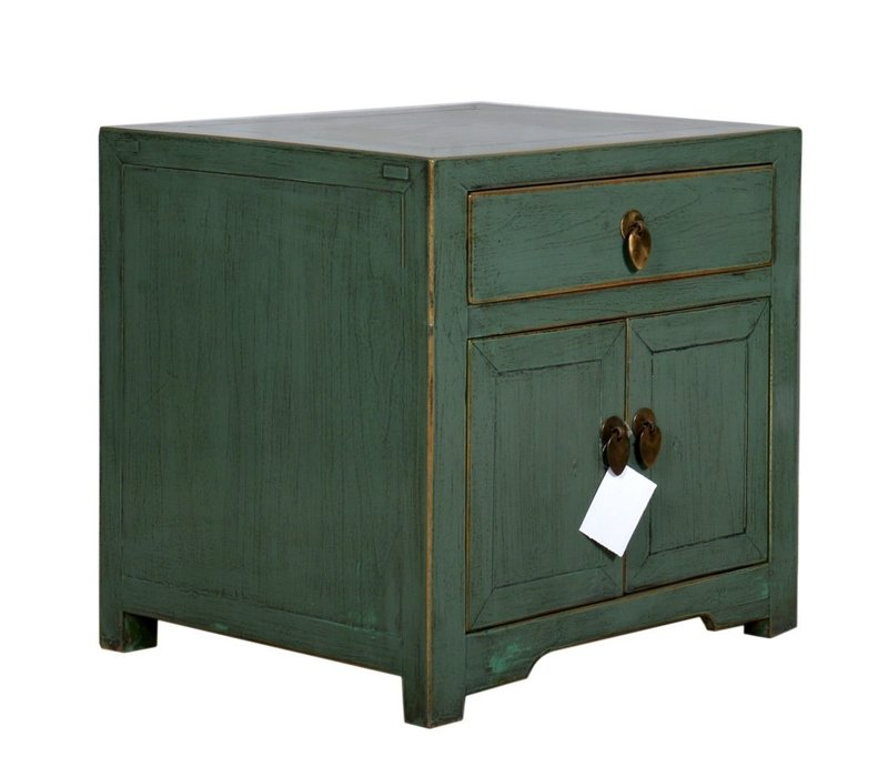 Chinese Bedside Table Mint Cube