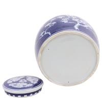 Vaso Ginger Jar Cinese in Porcellana Fiore di Ciliegio Dipinto a Mano Blu L23xA23cm