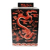 Fine Asianliving Vaso Ginger Jar Cinese in Porcellana Drago Dipinto a Mano Rosso Nero L18xP18xA34cm