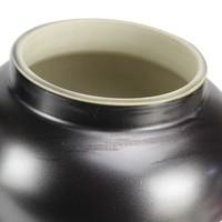 Chinesischer Ingwertopf Porzellan Schwarz Gold B26xH48cm
