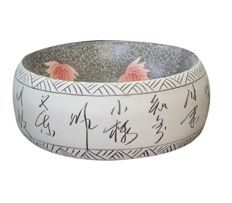 Keramische Wastafel Lotus Handgeschilderde B41xH15cm
