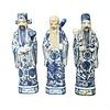 Fine Asianliving Chinese Beelden 3 Star Gods Fu Lu Shou Sanxing L10xH35cm Handbeschilderd