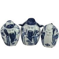 Chinese Beelden 3 Star Gods Fu Lu Shou Sanxing Handbeschilderd Set/3