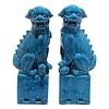 Fine Asianliving Chinese Foo Dogs Blue Porcelain Set/2