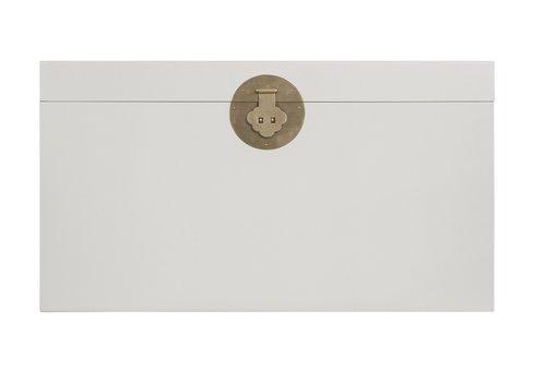 Fine Asianliving Caja Cofre de Almacenamiento Chino Antiguo Gris - Orientique Colección A90xP45xA50cm