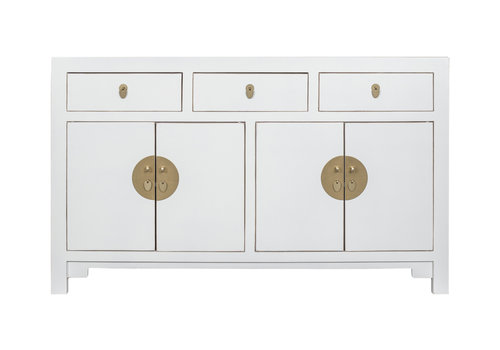 Fine Asianliving Chinese Sideboard Snow White - Orientique Collection L140xW35xH85cm
