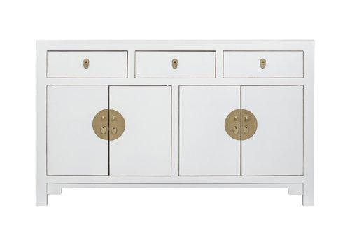 Fine Asianliving Chinesisches Sideboard Kommode Weiß - Orientique Sammlung B140xT35xH85cm