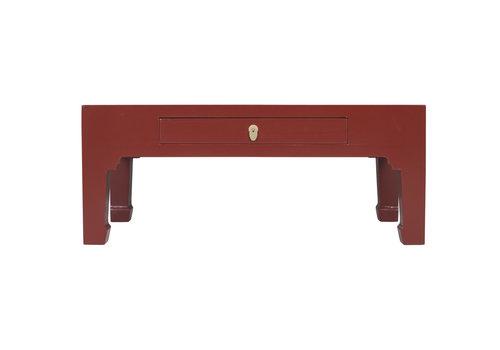 Fine Asianliving Chinesischer Couchtisch Rubinrot - Orientique Sammlung - B110xT60xH45cm