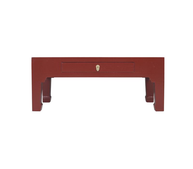 Chinesischer Couchtisch Rubinrot - Orientique Sammlung B110xT60xH45cm