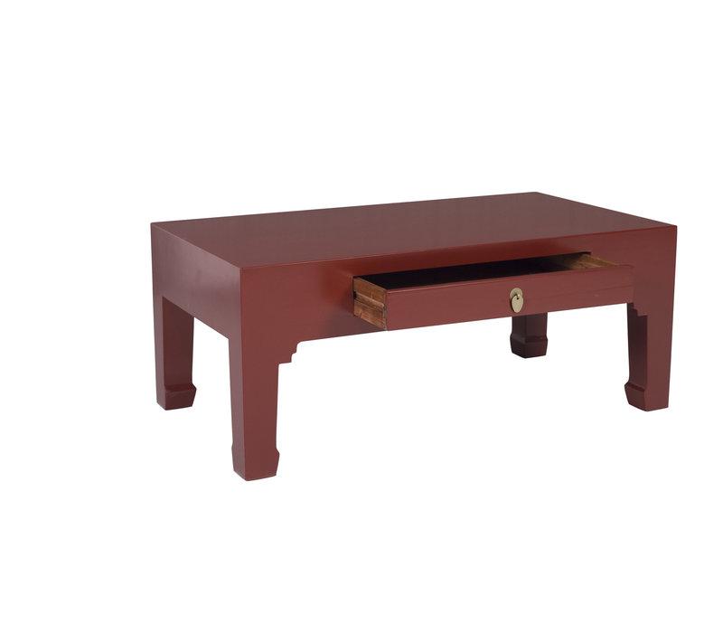 Mesa de Centro China Rojo Rubí - Orientique Colección Anch.110 x Prof.60 x Alt.45 cm