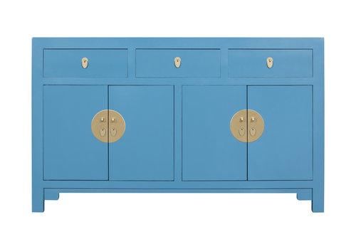 Fine Asianliving Buffet Chinois Bleu Saphir - Orientique Collection L140xP35xH85cm